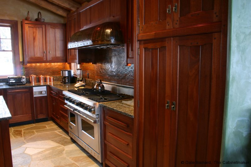 Cherry And Black Kitchen Cabinets