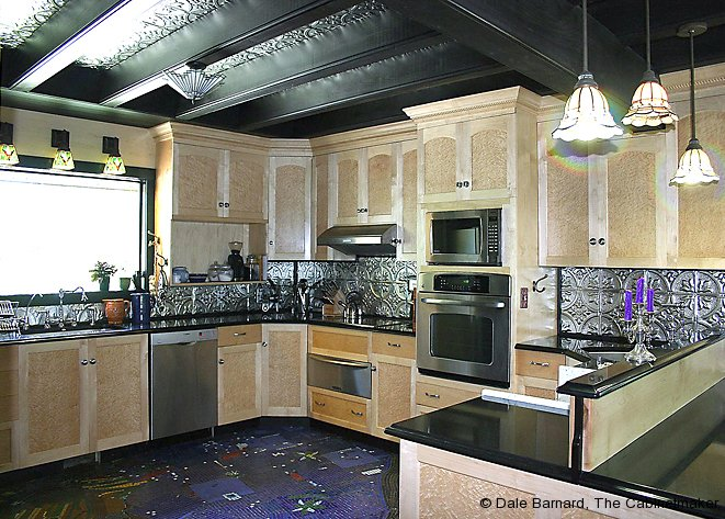 Truly custom kitchen cabinets for Birds eye maple kitchen cabinets