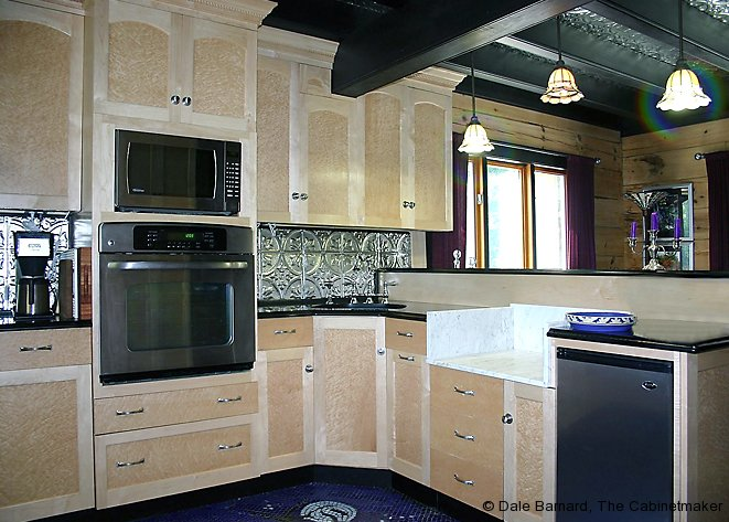 Truly custom kitchen cabinets for Birdseye maple kitchen cabinets