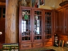 View 2 same G & G Style Kitchen Cabinets/Mahogany & Ebony (custom made hardware to match Gamble House hardware)