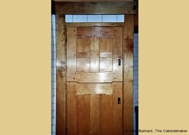 Greene and Greene-inspired Pantry Door