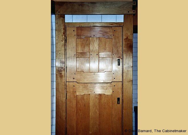 Greene and Greene-inspired Pantry Door