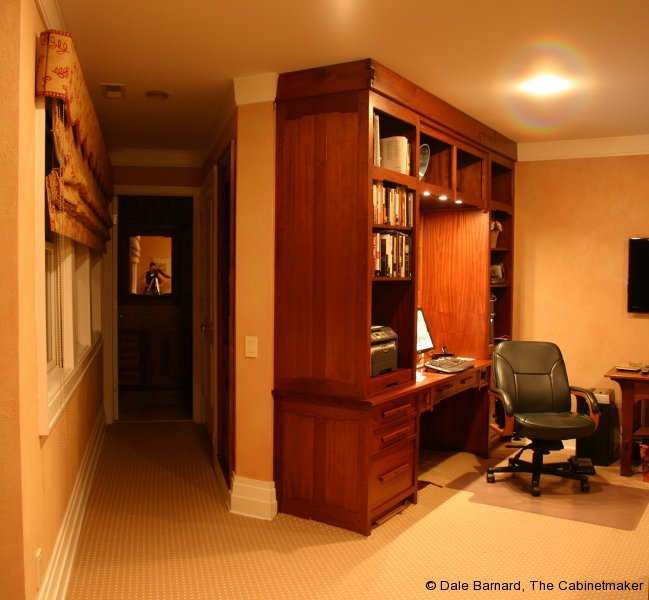 Mahogany w/ebony home/office work space