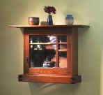 Greene and Greene Wall Cabinet with Art Glass