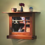 Greene & Greene Wall Cabinet w/ Art Glass