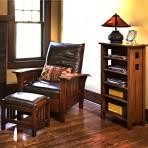 Bow Arm Morris Chair & Footstool